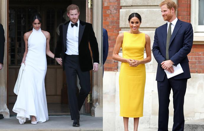"***Prince Harry & Meghan, Duchess of Sussex*** <br><br> Ever since her now-iconic wedding gown (and *that* [Stella McCartney](https://www.harpersbazaar.com.au/culture/stella-mccartney-meghan-markle-wedding-dress-17672|target=""_blank"") reception dress), the Duchess of Sussex and her husband Prince Harry are always in über-fashionable unison. From bespoke Givenchy to famously wearing her husband's puffer jacket in New Zealand, we have no doubt that their incumbent royal baby will be one of the best dressed in all the land."