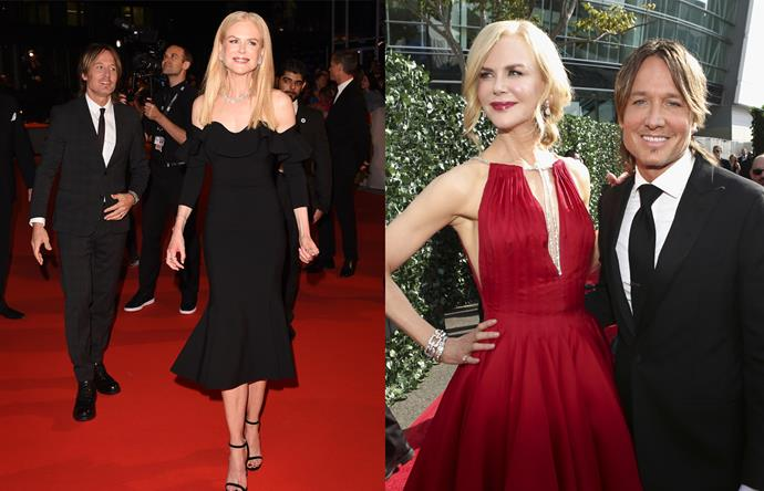 ***Keith Urban & Nicole Kidman*** <br><br> 2018 has been Nicole Kidman's year, and aside from scooping up multiple accolades for her performance in *Big Little Lies*, the 50-year-old actress always proves the perfect fashion pairing with her husband Keith Urban. The amount of love that Keith has for his wife is adorable, too.