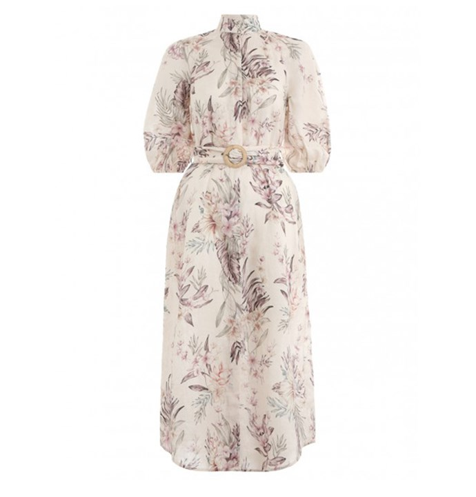 "No summer-vacay wardrobe is complete without a hit of Zimmermann florals. Worn cinched-in at the waist, the particular design features a relaxed silhouette making it perfect for chic holiday exploring and late-night bar hopping. Pair it with tan slides or strappy sandals. <br><br> [Zimmermann dress](https://www.elle.com.au/culture/design-trends-2019-19472|target=""_blank""