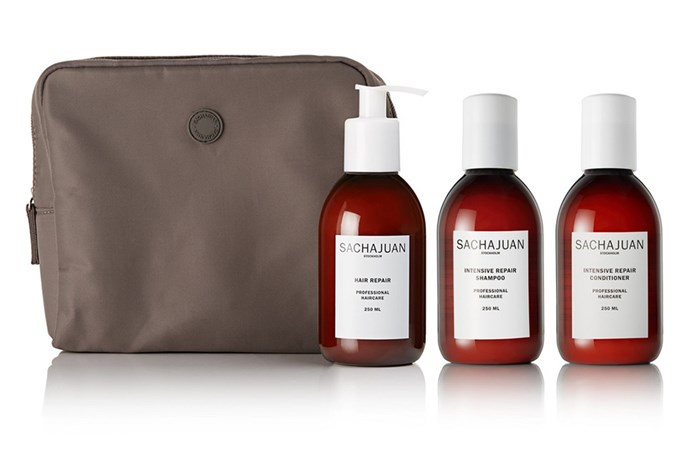"Globe-trotting needn't mean sacrificing hair health. With three travel-friendly versions of the brand's best-selling products, you can ensure your lengths remain properly cared for, no matter where you are. A beach-holiday necessity. <br><br> SACHAJUAN travel collection, $135.89 at [Mecca](https://www.net-a-porter.com/au/en/product/1125335/sachajuan/hair-repair-collection|target=""_blank""