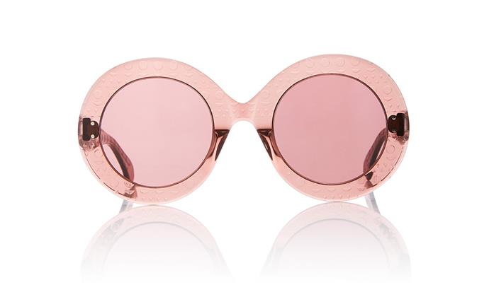 "These rose-tinted sunglasses will lend holiday-ready wardrobes a fun retro feel and are a great way to add colour to monochrome outfits. <br><br> Alaia sunglasses, $710 at [Moda Operandi](https://www.modaoperandi.com/alaia-sunglasses-cn/le-round-clou-sunglasses?size=OS|target=""_blank""