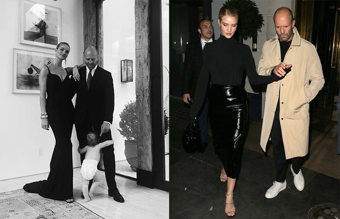 "***Jason Statham & Rosie Huntington-Whiteley*** <br><br> Like the Beckhams, Jason and RHW are by no means a new couple, but they'll never stop being one of our favourites. This year, Rosie's looks (from the likes of Ellery and vintage [Versace](https://www.harpersbazaar.com.au/fashion/rosie-huntington-whiteley-versace-dress-17308|target=""_blank"")) proved a masterclass in sleek, modern dressing, and Statham's British-tinged wardrobe is faultless, too."