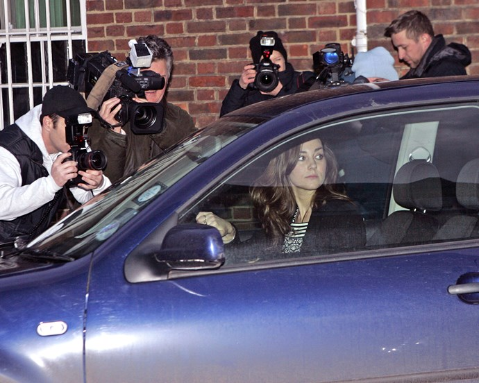 Catherine, Duchess of Cambrirgde (then Kate Middleton) pictured outside the building in 2007.