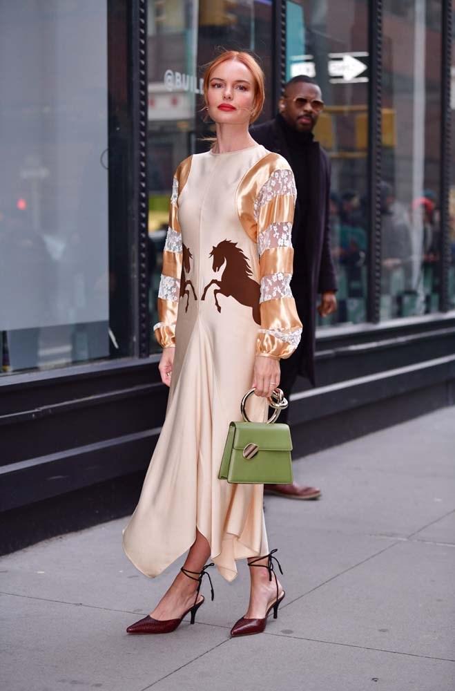 In a Chloé dress.