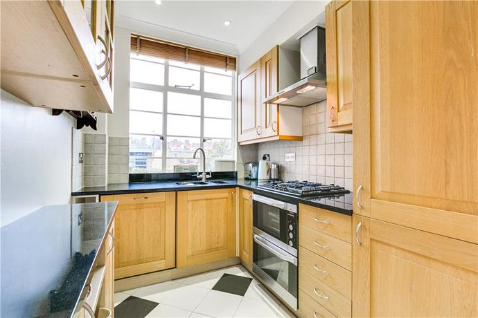 The kitchen. Courtesy Knight Frank