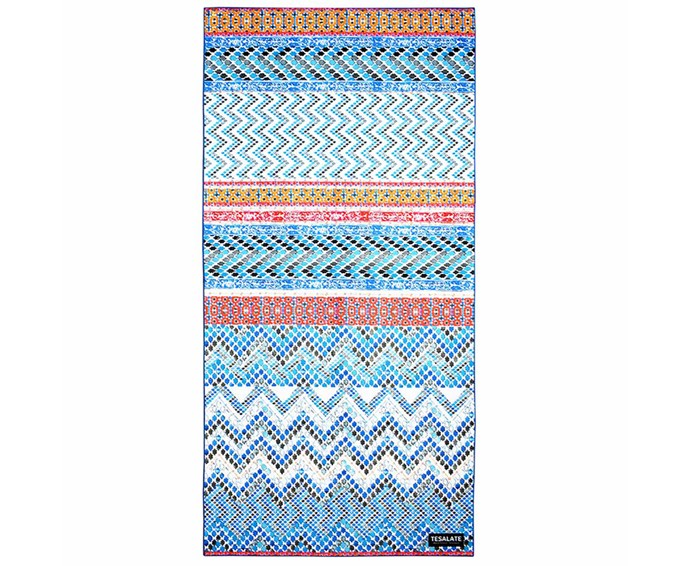 "Give your beach style an update with Tesalate's Alchemist towel. Ultra-absorbing and fast-drying, the design is crafted from the brand's exclusive AbsorbLite fabric that prevents sand sticking to it, even when wet. Added bonus: It's compact when rolled and will fit nicely into beach bags. <br><br> [Tesalate beach towel](https://au.tesalate.com/|target=""_blank""