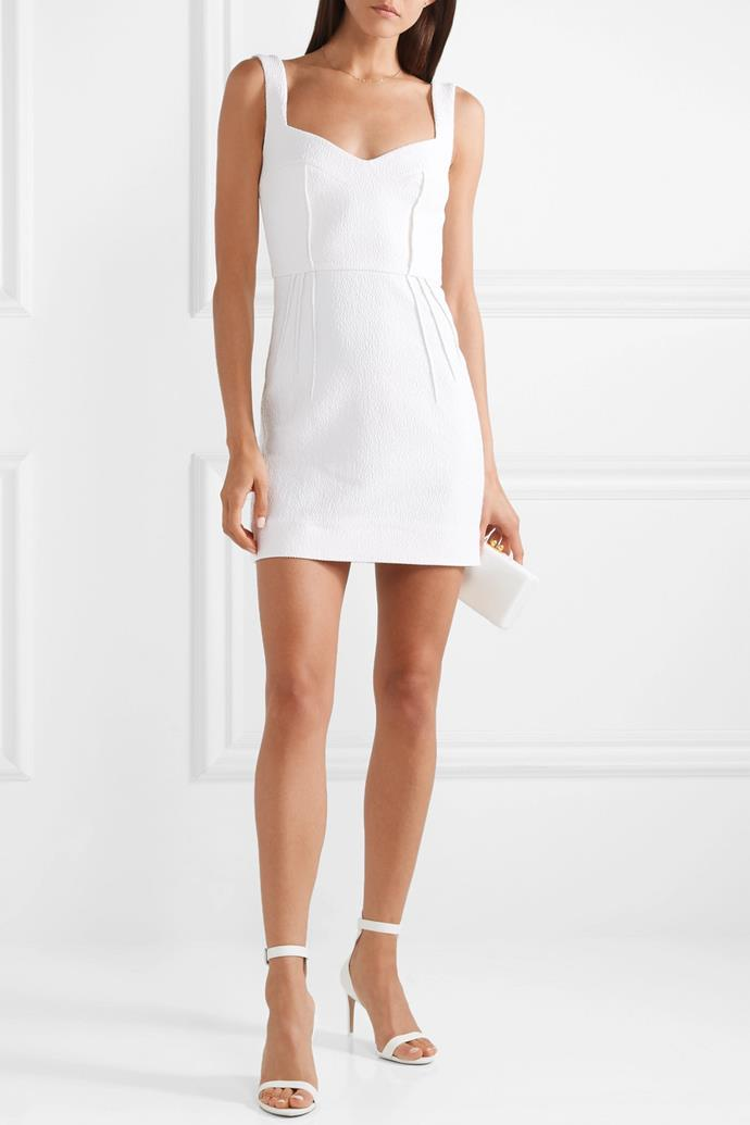 "**The Fitted Mini:** If you've worn a conservative or voluminous gown in the church, a great way to show off your figure is by switching into the exact opposite.  <br><br> *Emilia Wickstead Judita cloqué mini dress, $1849.82, at [Net-A-Porter](https://www.net-a-porter.com/au/en/product/1075834/emilia_wickstead/judita-cloque-mini-dress|target=""_blank""