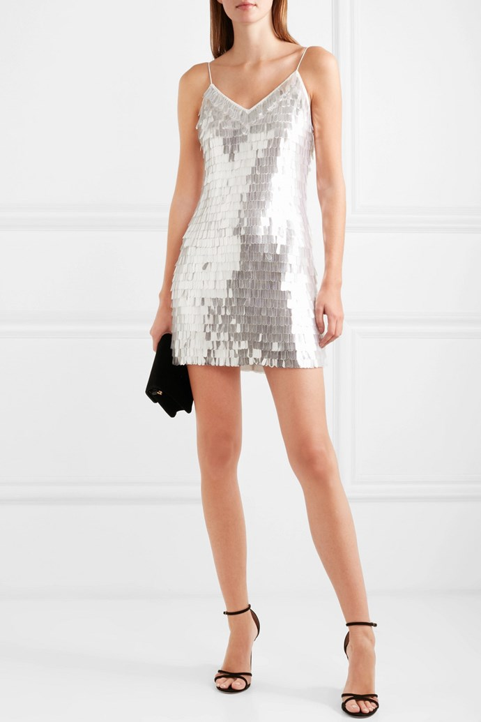 "**The Sparkly Mini:** Really let your guests know it's time to let their hair down by shrugging off your gown and shimmying into something that will catch the light and add some sparkle to the night.  <br><br> Alice + Olivia Contessa dress, $1040.98, at [Net-A-Porter](https://www.net-a-porter.com/au/en/product/1090664?resType=single&keywords=sparkly%20mini&enableAjaxRequest=false|target=""_blank""