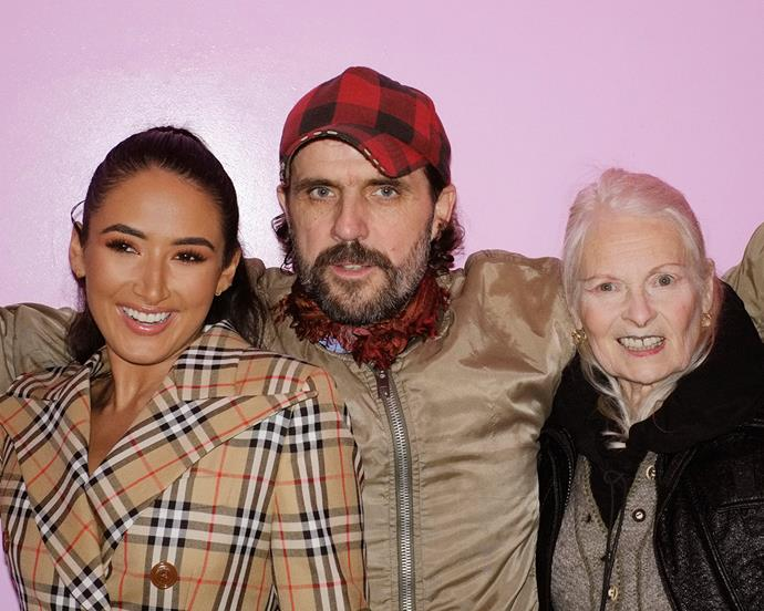 Cora Corre, Andreas Kronthaler and Vivienne Westwood