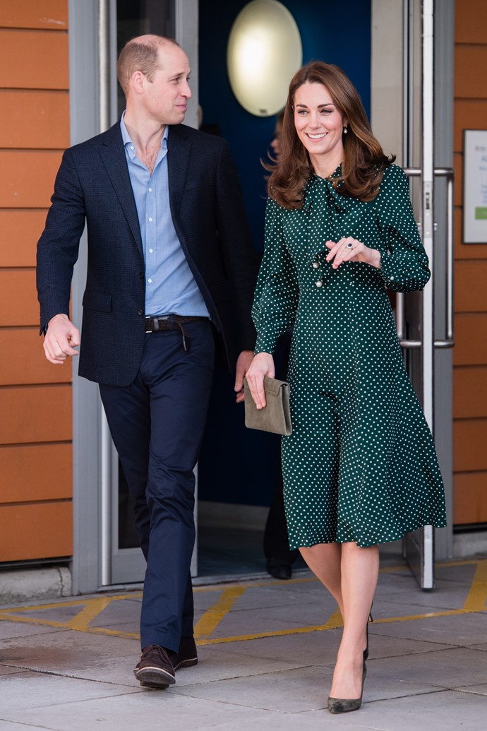 Kate Middleton and her husband Prince William at a charity event on December 11, 2018.