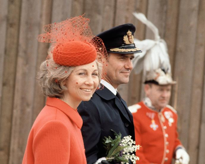 Queen Sofía of Spain visiting The Netherlands in 1980.