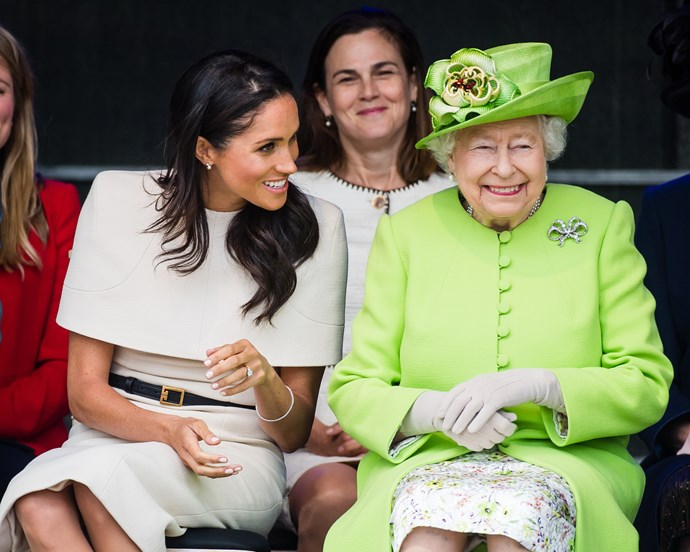 Meghan Markle and Queen Elizabeth II on their first official outing in June 2018.