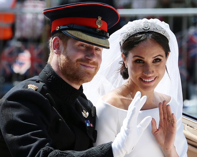 Meghan Markle and Prince Harry at their wedding on May 19, 2018.