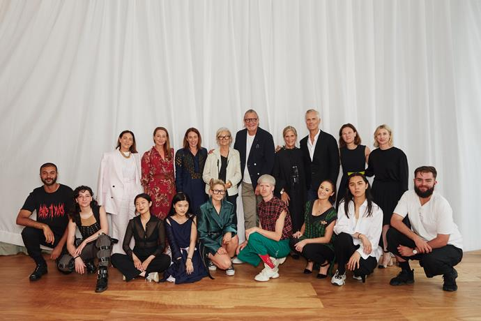 The Australian Fashion Foundation Awards judges and finalists.