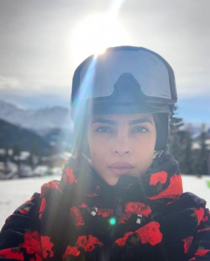 Priyanka Chopra looking rosy in Switzerland.