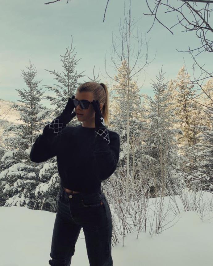 Sofia Richie in Aspen, Colorado.