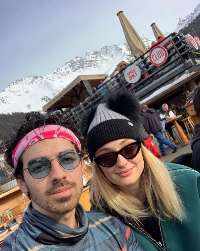 Joe Jonas and Sophie Turner in Switzerland.