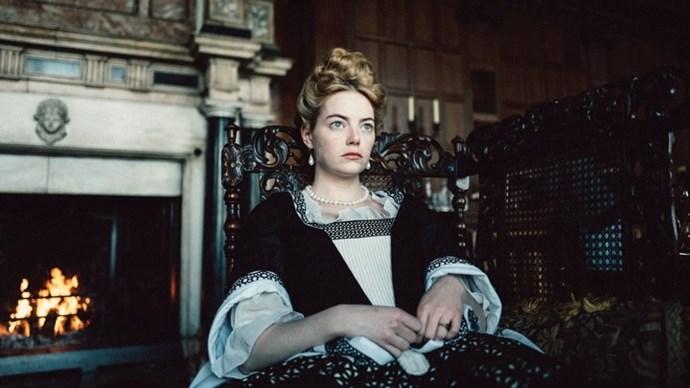 Emma Stone in *The Favourite*.