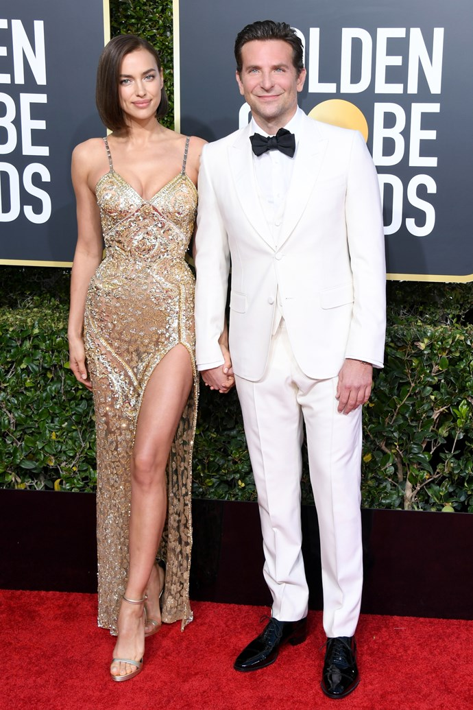 Bradley Cooper and Irina Shayk at the 76th Annual Golden Globes on January 6, 2019.