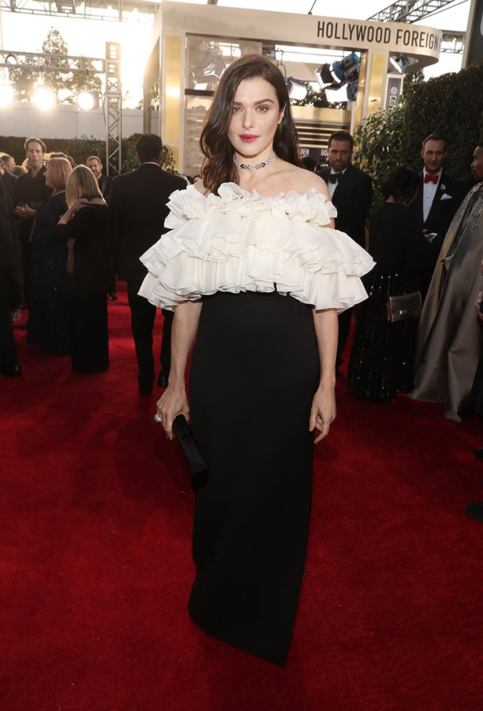 Rachel Weisz in Celine and Cartier.