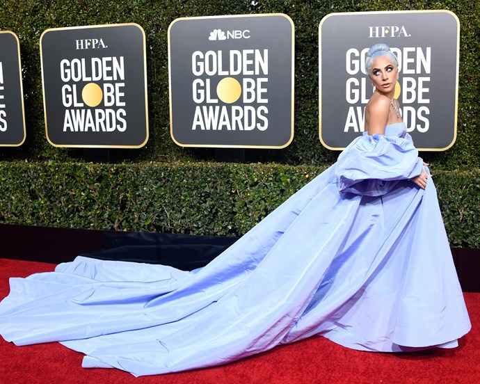 Lady Gaga at the 76th Annual Golden Globes on January 6, 2019.