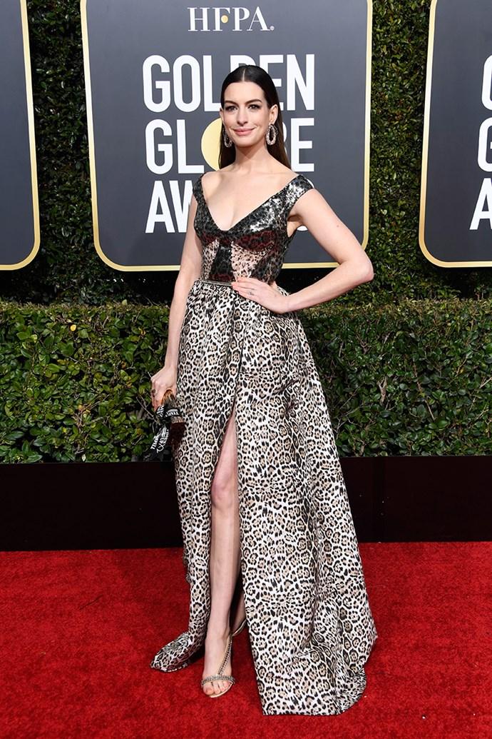 Anne Hathaway in Elie Saab.