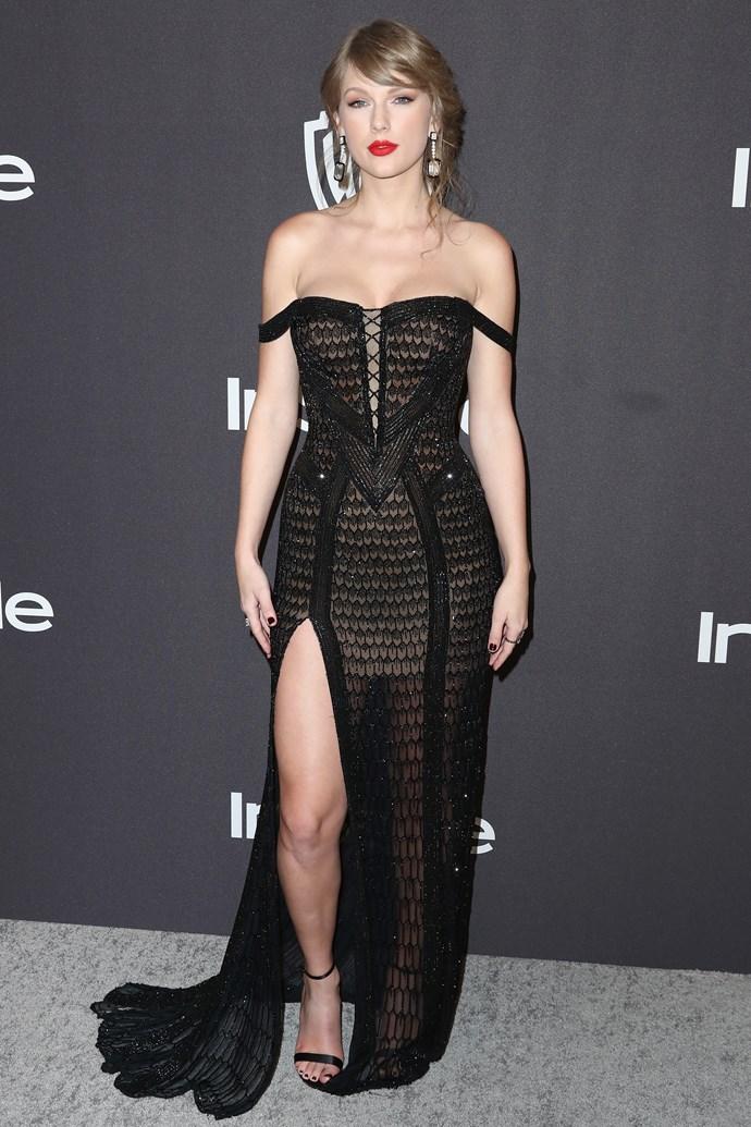 Taylor Swift in Versace.