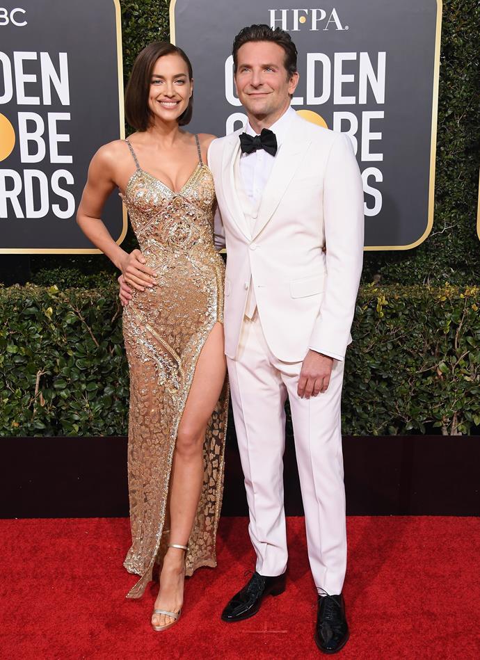 Bradley Cooper and Irina Shayk at the 76th Golden Globe Awards on January 6, 2019.