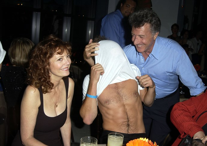 Susan Sarandon, Jake Gyllenhaal and Dustin Hoffman in Toronto in 2002.