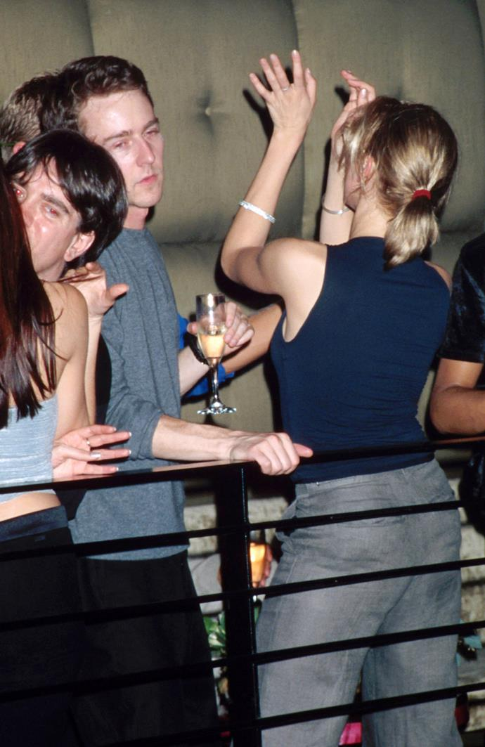 Edward Norton and Cameron Diaz dance like no one is watching in Miami in 1999.