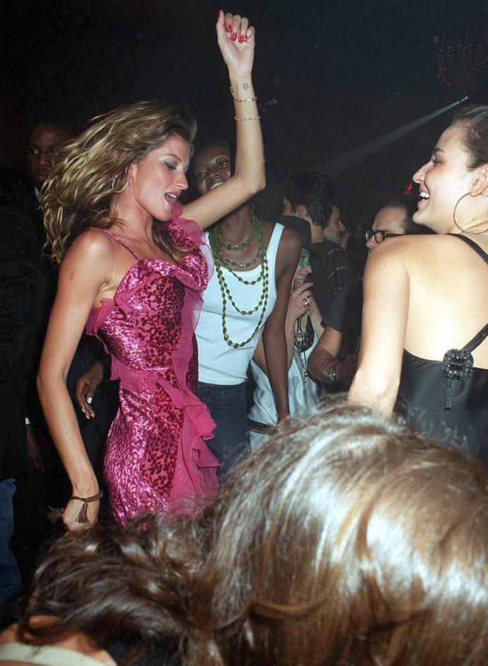 Gisele Bundchen at a Dior party in 2002.