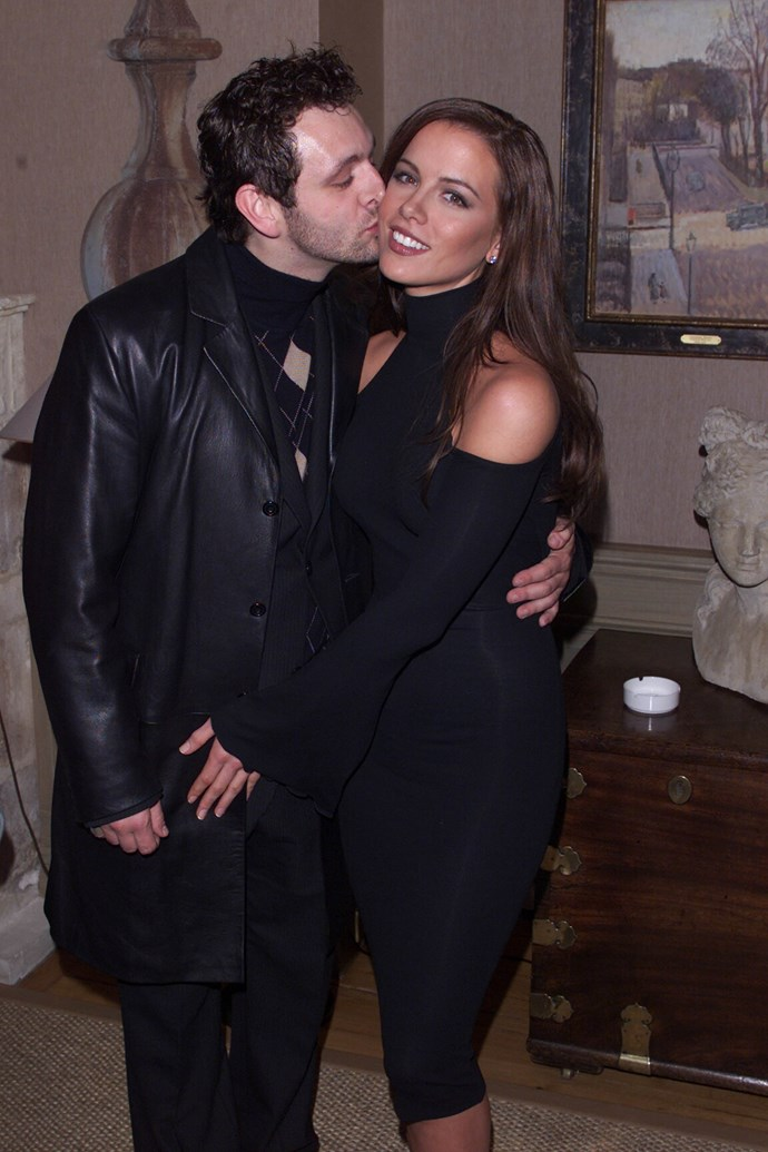 Kate Beckinsale with now ex-husband Michael Sheen in 2001.