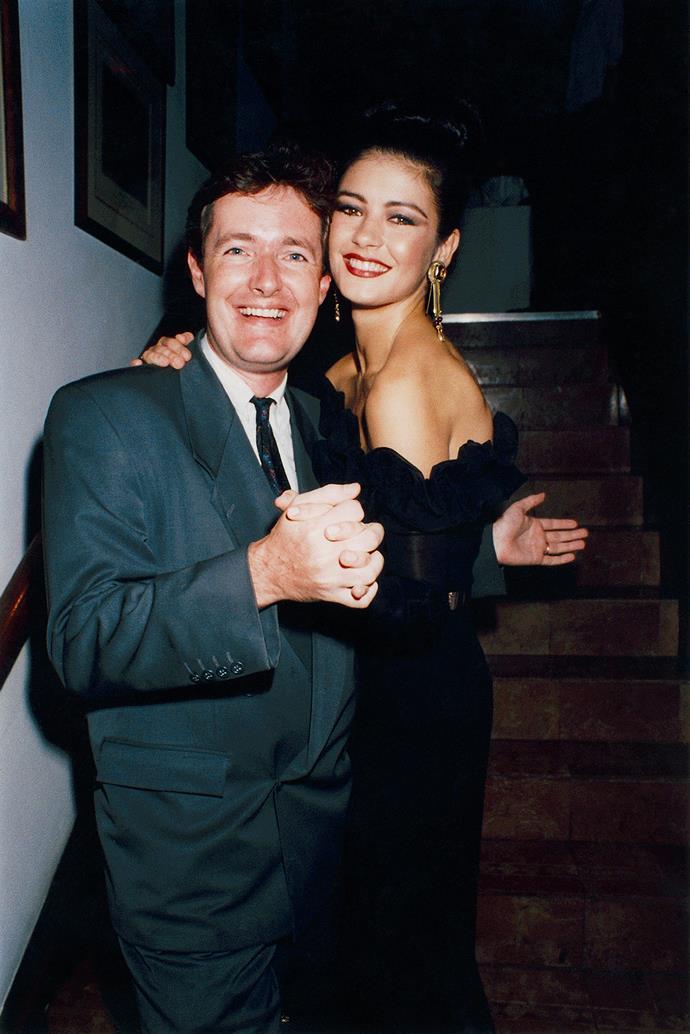Piers Morgan and Catherine Zeta-Jones in London in 1992.