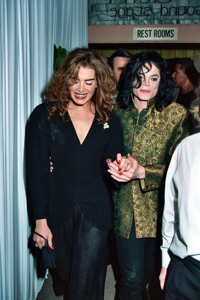 Brooke Shields and Michael Jackson in 1993.