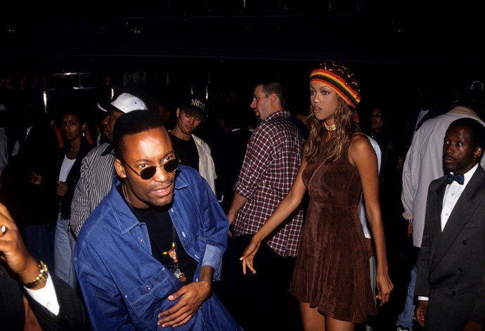 Tyra Banks in a New York club in 1992.