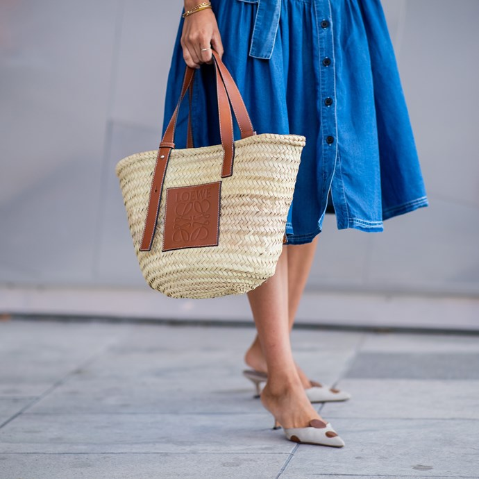 **Straw bags** <br> In 2019, we're on the hunt for an all-new variation on the luxe carefree beach bag (although we'll admit, we're never letting go of our heavenly Loewe straw and leather totes).