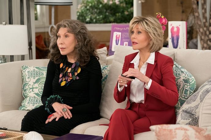 ***Grace and Frankie*: Season 5 (18/1/2019)** <br><br> In the return of this Emmy-winning comedy, two divorced friends launch a scheme to get their old lives back after their husbands strike up a shock romantic relationship.