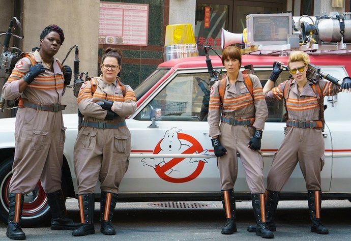 ***Ghostbusters* (12/1/2019)**  <br><br> When ghosts swarm Manhattan, four smart women form a paranormal elimination squad to hunt down the malevolent apparitions and stop an apocalypse.