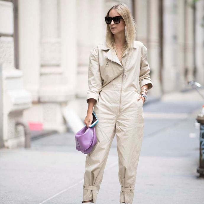 "*A boilersuit*<br><br> Every now and then it feels good to shelve the separates. Go for a hole-in-one and opt for a boilersuit, advises Samantha Wong, market editor.<br><br> ""I love an all-white outfit (no matter how dangerous that may be in the office)—and a boiler does all the outfit-thinking for me in one big zip. Pair with sandals for a relaxed vibe, or dress it up with a bedazzled stiletto."""