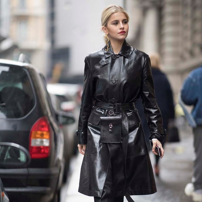 "*A utility belt*<br><bR> The bum-bag might be a touch overplayed in 2019, but the utility belt—think tradie, but chic—is a belt update. Still convenient, still underrated.<br><bR> ""Not quite a bum-bag but I'm taking baby steps towards it… A chic and subtle belt is always a wardrobe necessity, and when it has a pouch for your coins and lipstick that's a big bonus. I see this Gabriela Hearst belt sitting nicely around my favourite trench,"" says our market editor."