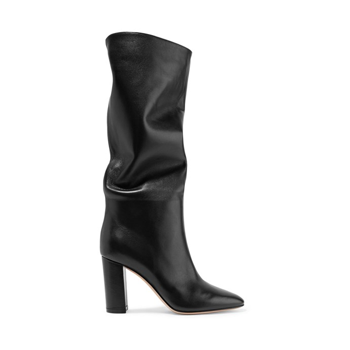 "*A pair of slouchy boots*<br><br> Boots by Gianvito Rossi, $2,090 at [NET-A-PORTER](https://www.net-a-porter.com/au/en/product/1057491/Gianvito_Rossi/laura-85-leather-knee-boots|target=""_blank""