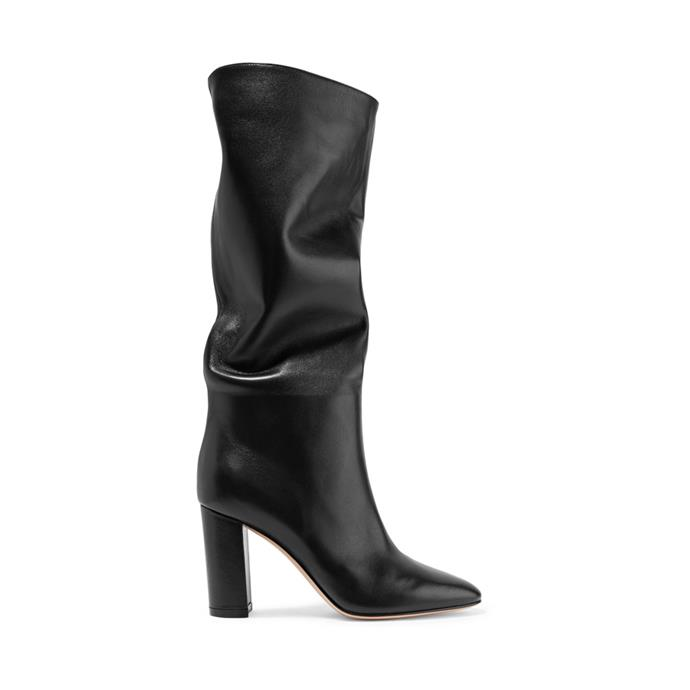 """*A pair of slouchy boots*<br><br> Boots by Gianvito Rossi, $2,090 at [NET-A-PORTER](https://www.net-a-porter.com/au/en/product/1057491/Gianvito_Rossi/laura-85-leather-knee-boots target=""""_blank"""" rel=""""nofollow"""")."""