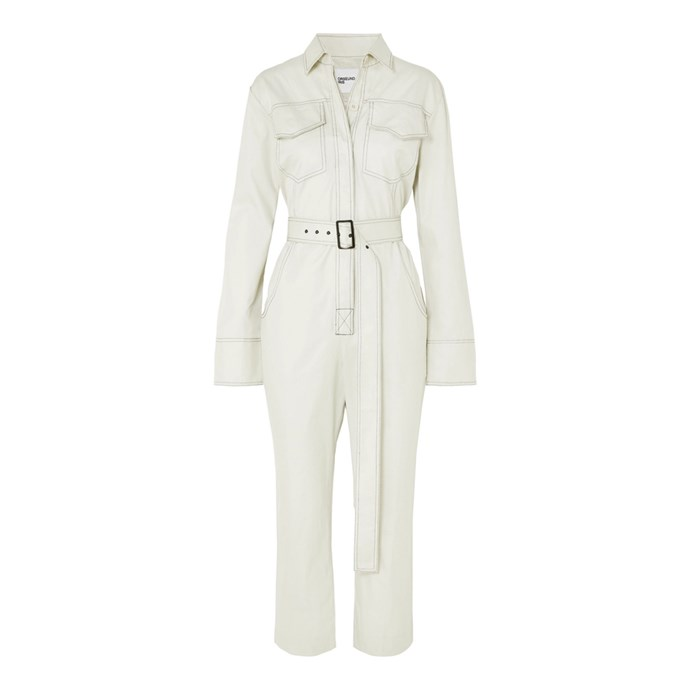 "*A boilersuit*<br><br> Boilersuit by Orseund Iris, $595 at [NET-A-PORTER](https://www.net-a-porter.com/us/en/product/1115307/orseund_iris/workwear-belted-cotton-gabardine-jumpsuit|target=""_blank""