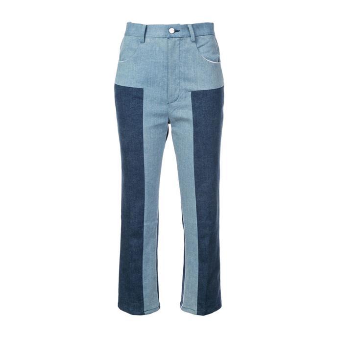 "*Two-toned denim*<br><br> Jeans by Rachel Comey, $566 at [Farfetch](https://www.farfetch.com/au/shopping/women/rachel-comey-colour-block-cropped-trousers-item-13326237.aspx?storeid=10476 target=""_blank"" rel=""nofollow"")."