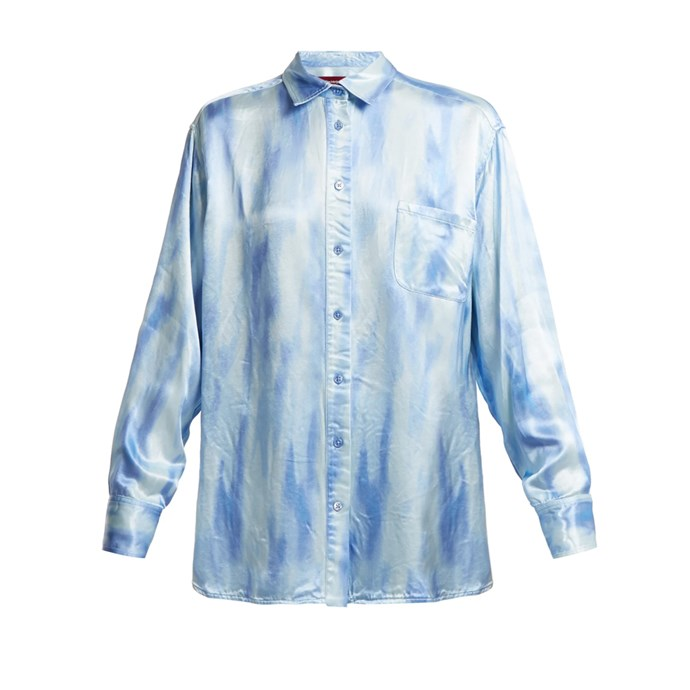 "*Something tie-dye*<br><br> Shirt by Sies Marjan, $615 at [MATCHESFASHION.COM](https://www.matchesfashion.com/products/Sies-Marjan-Sander-patch-pocket-tie-dye-satin-shirt--1199518|target=""_blank""