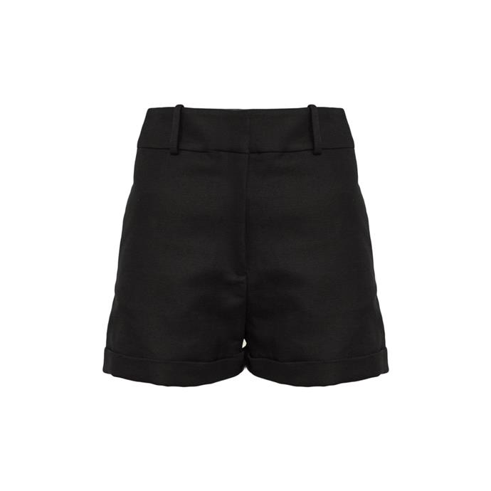 "*A pair of shorts* <br><br> Shorts by Michael Lo Sordo, $290 at [The Undone](https://www.theundone.com/products/capri-short|target=""_blank""
