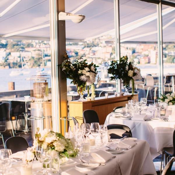"***Catalina, Rose Bay*** <br><br> Like the Park Hyatt, Catalina features one of the best views the harbour foreshore has to offer, but with a touch more intimacy. The already famous restaurant is the perfect locale for quaint harbourside nuptials to suit every couple, and that's *before* we get to the seasonally-inspired, hatted menu. Speedboat arrivals welcomed. <br><br> *Enquire at [catalinarosebay.com.au](http://catalinarosebay.com.au/|target=""_blank""