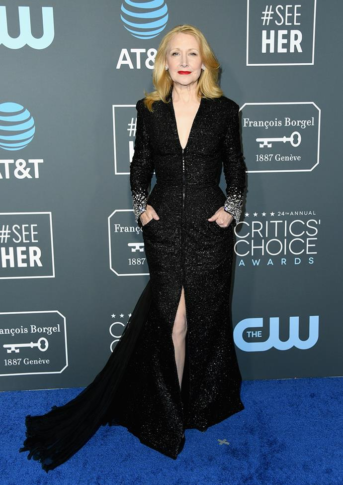 Patricia Clarkson in Georges Chakra.