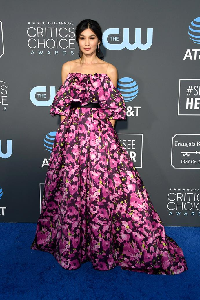 Gemma Chan in Jason Wu.