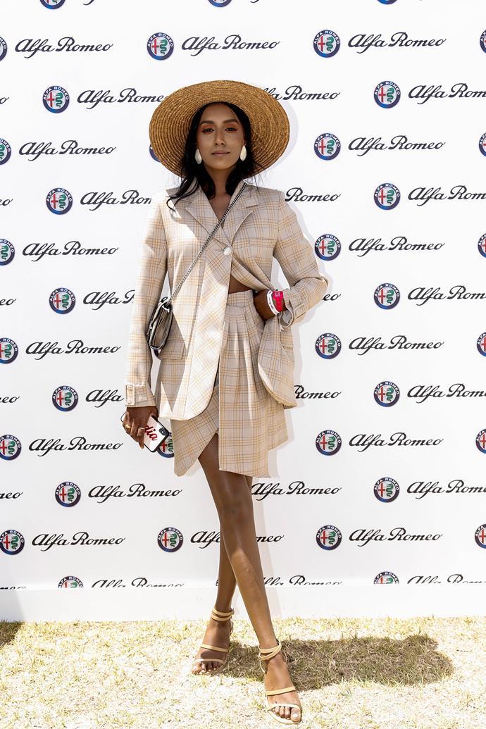Vydia Ryshie at the Alfa Romeo Marquee